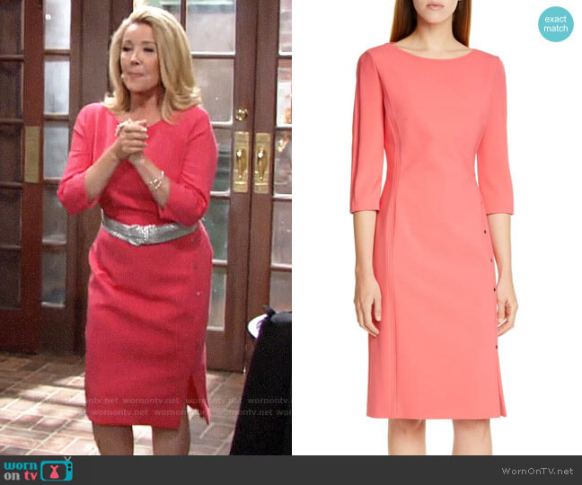 BOSS Dikena Dress worn by Nikki Reed Newman (Melody Thomas-Scott) on The Young & the Restless