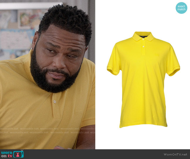 BOSS Logo Polo worn by Andre Johnson (Anthony Anderson) on Blackish