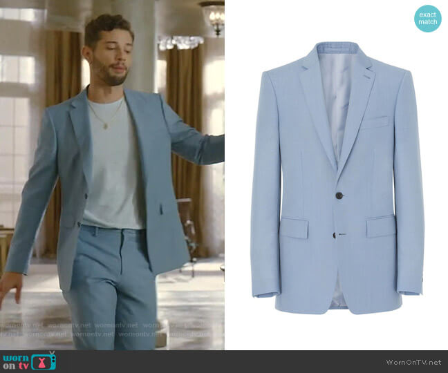 Classic Fit Tailored Jacket by Burberry worn by Sam Flores (Rafael de la Fuente) on Dynasty