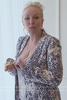 Margaret's leopard print blazer on The Real Housewives of New Jersey