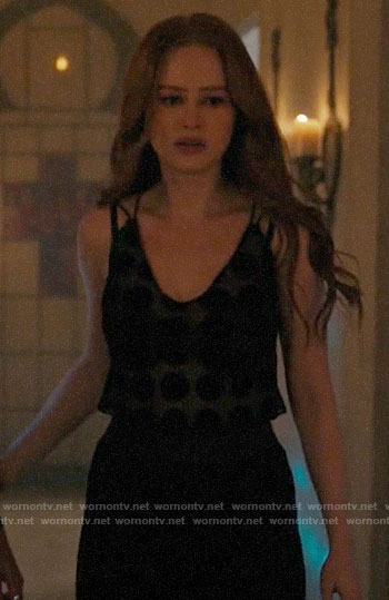 Cheryl's black polka dot cami on Riverdale