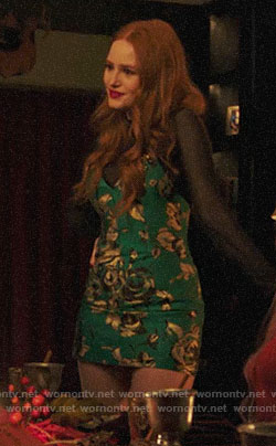 Cheryl's green floral mini dress on Riverdale
