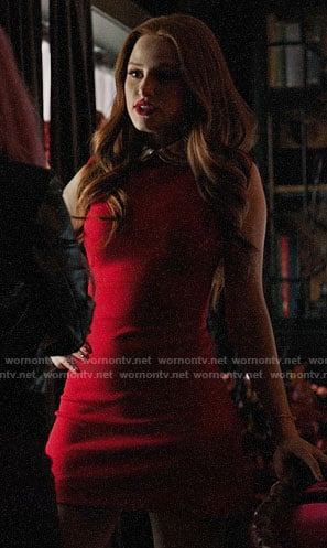 Cheryl's red collared mini dress on Riverdale