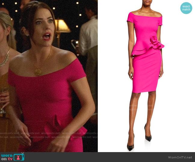 Chiara Boni La Petite Robe Lady Peplum Dress worn by Andrea Rojas (Julie Gonzalo) on Supergirl