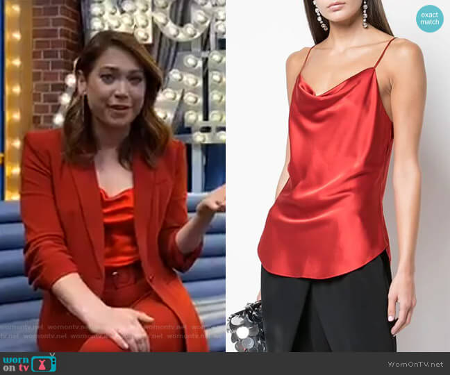 Marta Cami by Cinq a Sept worn by Ginger Zee  on Good Morning America