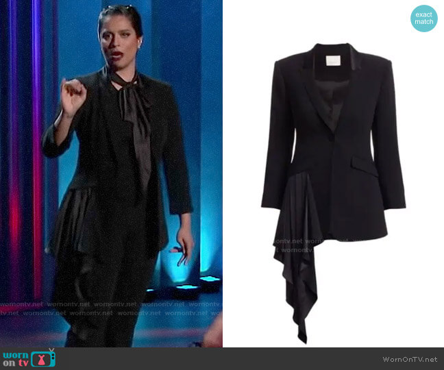 Cinq a Sept Ally Blazer worn by Lilly Singh  on A Little Late with Lilly Singh