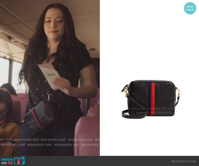 Clare V Midi Sac Leather Crossbody Bag worn by Jules Wiley (Kat Dennings) on Dollface