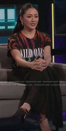 Constance Wu's WILD ONES tee on A Little Late with Lilly Singh