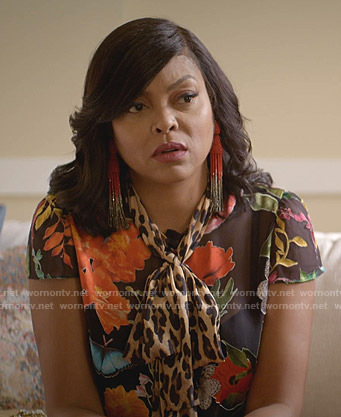 Cookie's floral and leopard print top on Empire