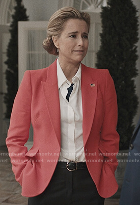 Elizabeth's red blazer on Madam Secretary