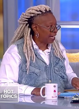Whoopie's denim vest on The View