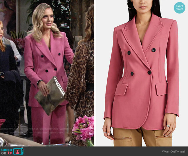 Derek Lam Cady Double-Breasted Blazer worn by Abby Newman (Melissa Ordway) on The Young & the Restless