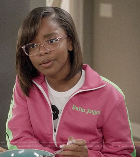 Diane's pink track jacket on Black-ish