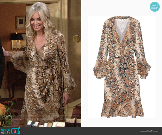 Diane von Furstenberg Carli Python Dress worn by Ashley Abbott (Eileen Davidson) on The Young & the Restless