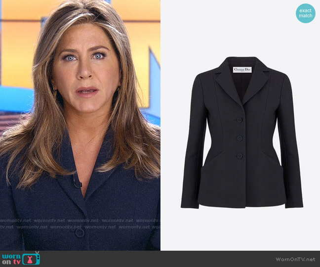 Dior Bar Jacket in Wool and Silk worn by Alex Levy (Jennifer Aniston) on The Morning Show