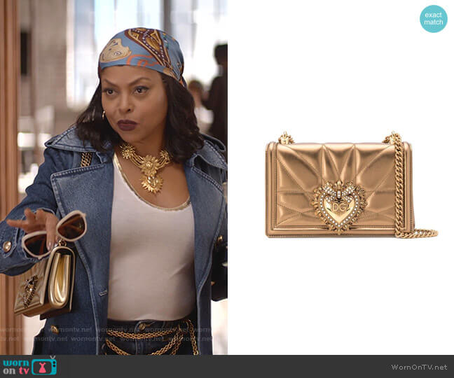 Devotion Shoulder Bag by Dolce & Gabbana worn by Cookie Lyon (Taraji P. Henson) on Empire