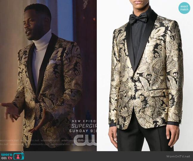 Jacquard Button Blazer by Dolce & Gabbana  worn by Jeff Colby (Sam Adegoke) on Dynasty