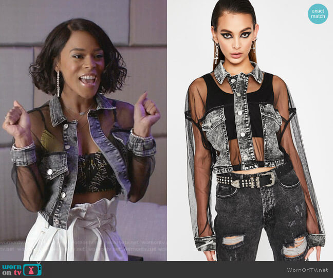 Grunge Glamour Crop Jacket by Dolls Kill worn by Tiana Brown (Serayah McNeill) on Empire