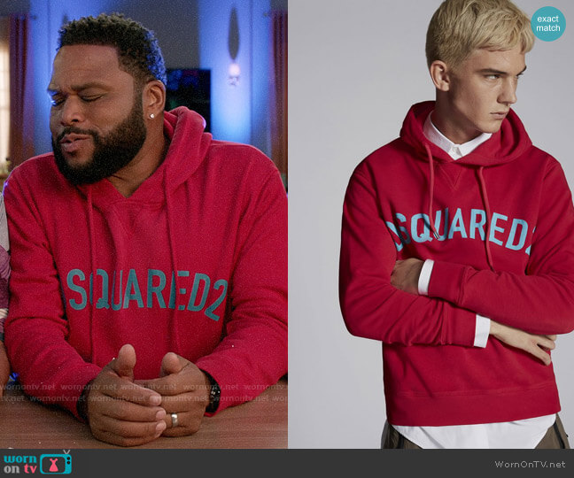 DSquared2 Hooded Sweatshirt worn by Andre Johnson (Anthony Anderson) on Blackish