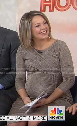 Dylan's grey ruched maternity dress on Today