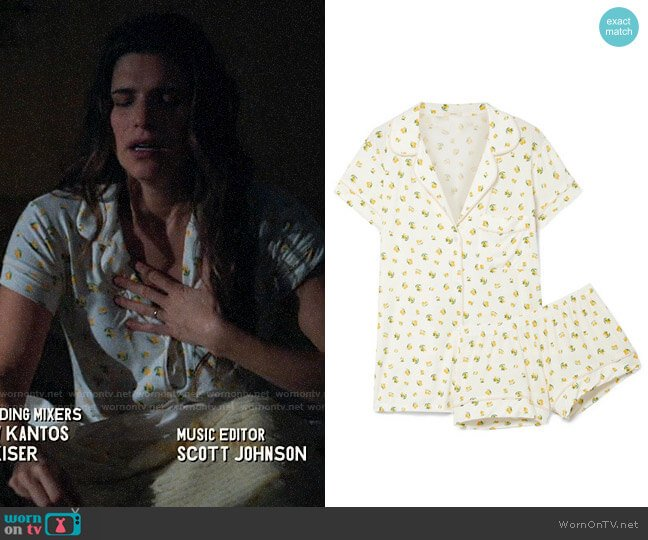 Eberjey Dianna Pajamas worn by Rio (Lake Bell) on Bless This Mess