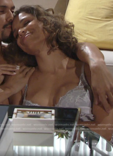 Elena's lace bra on The Young and the Restless