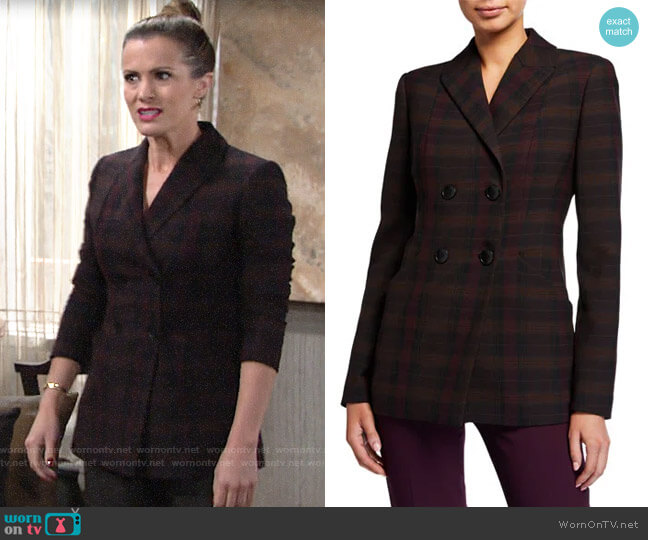 Elie Tahari Launie Blazer worn by Chelsea Lawson (Melissa Claire Egan) on The Young & the Restless
