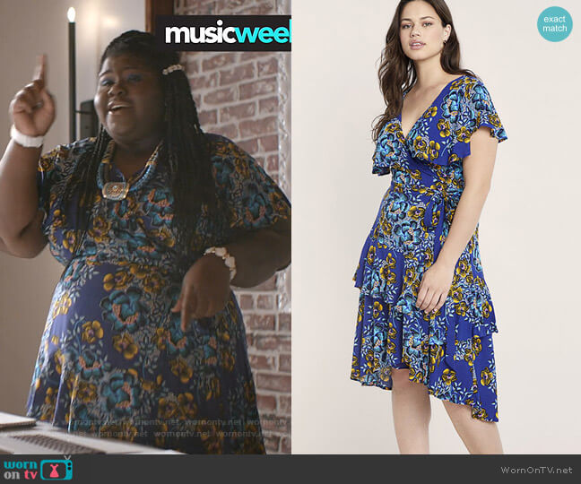 Printed Ruffle Wrap Dress by Eloquii worn by Becky (Gabourey Sidibe) on Empire