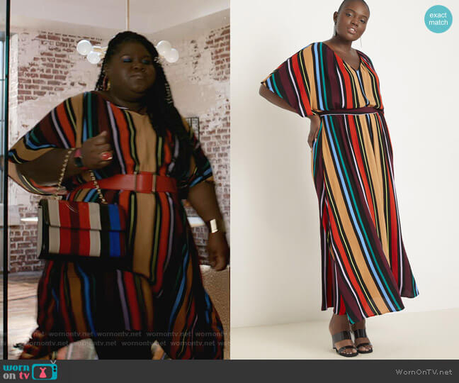 Printed V-Neck Maxi Dress by Eloquii worn by Becky (Gabourey Sidibe) on Empire