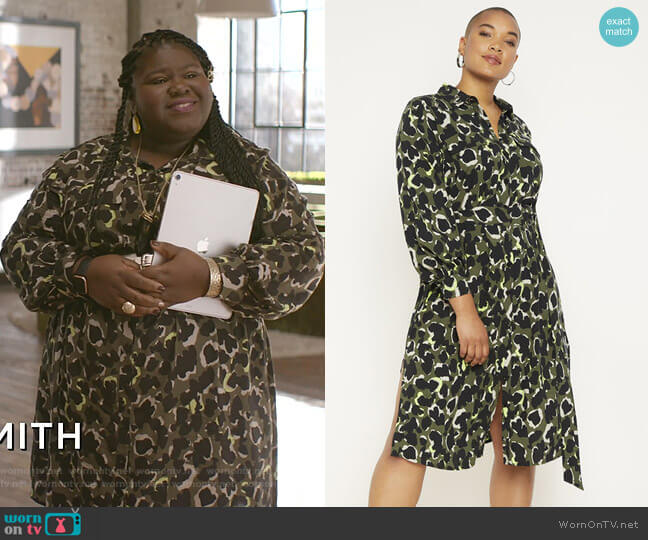 Utility Shirtdress by Eloquii worn by Becky (Gabourey Sidibe) on Empire