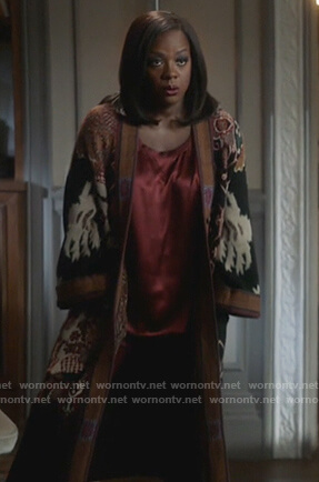 Annalise's embroidered coat on How to Get Away with Murder
