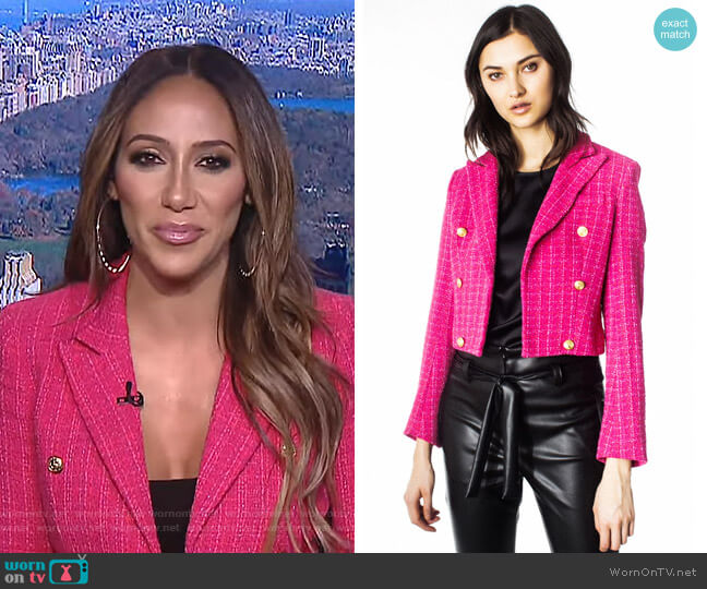 Gwenyth Blazer by Envy worn by Melissa Gorga on E! News Daily Pop