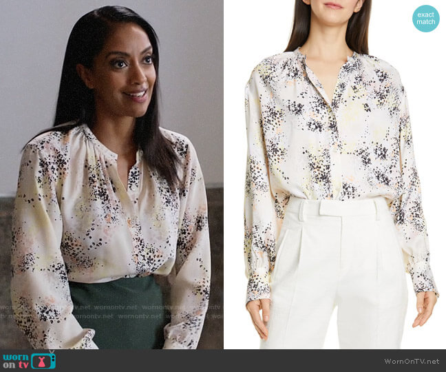 Equipment Causette Top worn by Kelly Olsen (Azie Tesfai) on Supergirl