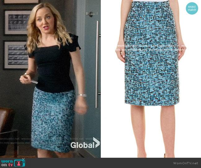 Escada Pencil Skirt worn by Marissa Morgan (Geneva Carr) on Bull
