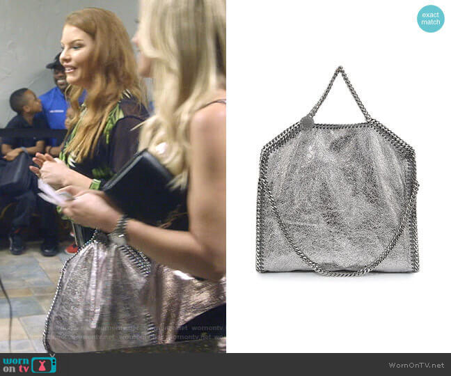 Falabella Tote Bag by Stella McCartney worn by Brandi Redmond  on The Real Housewives of Dallas