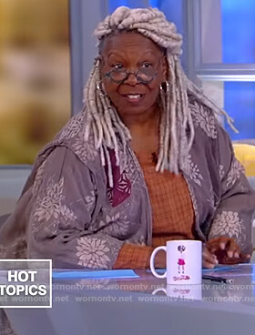 Whoopi's floral cardigan on The View