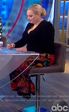 Meghan's floral print pants on The View