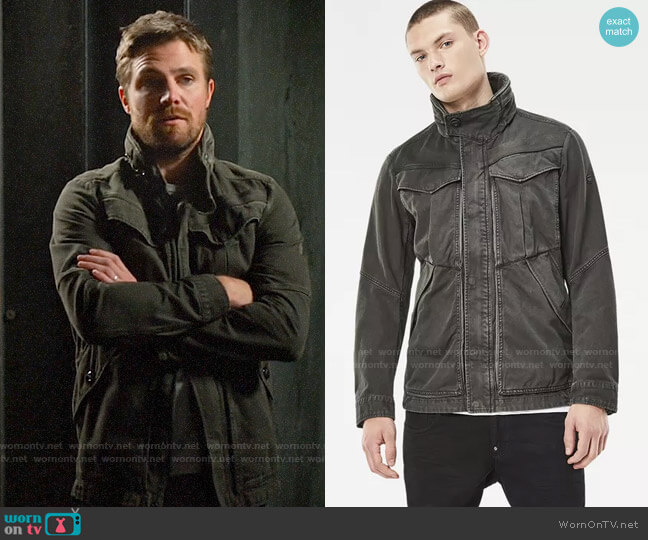 G Star Raw Deline Jacket worn by Oliver Queen (Stephen Amell) on Arrow