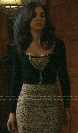 Gabi's leopard print outfit on Days of our Lives
