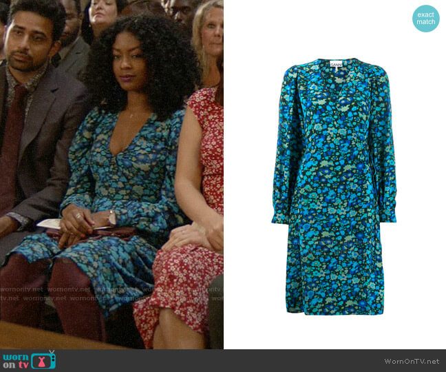 Ganni Floral Wrap Dress worn by Ali Finer (Javicia Leslie) on God Friended Me
