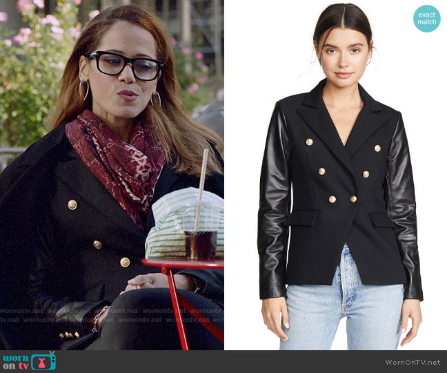 Generation Love Enzo Blazer worn by Amanda Doherty (Victoria Cartagena) on Almost Family