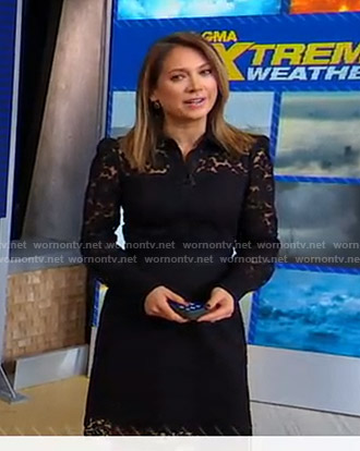 Ginger's black lace dress on Good Morning America