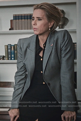 Elizabeth's gray blazer on Madam Secretary