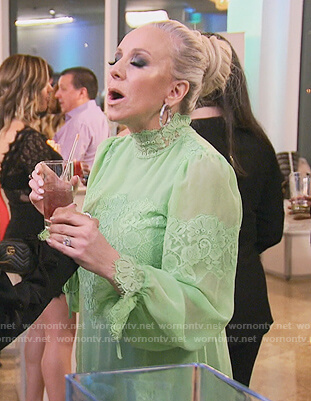 Margaret's green lace dress on The Real Housewives of New Jersey