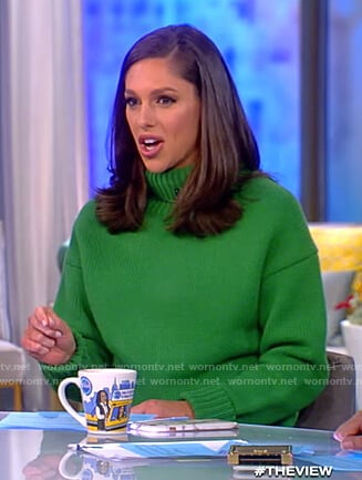 Abby's green turtleneck sweater on The View