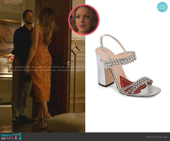 Bertie Sandals by Gucci worn by Fallon Carrington (Elizabeth Gillies) on Dynasty