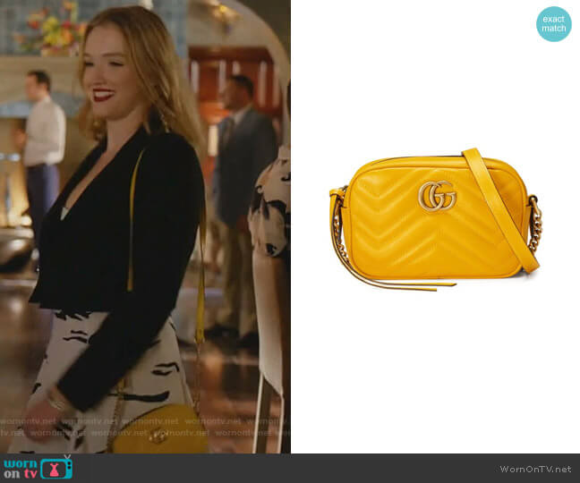 GG Marmont Matelassé Mini Bag worn by Kirby Anders (Maddison Brown) on Dynasty