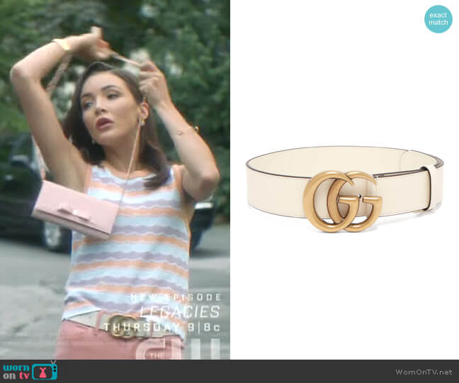 GG Logo Belt by Gucci worn by Bess (Maddison Jaizani) on Nancy Drew