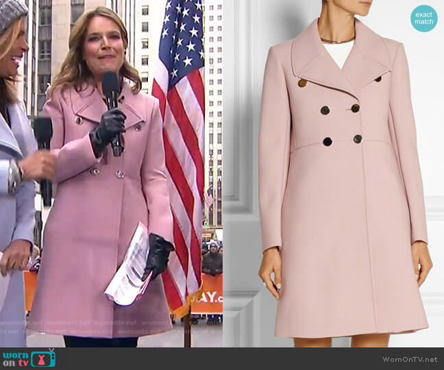 Neoprene-Bonded Wool Coat by Gucci worn by Savannah Guthrie  on Today