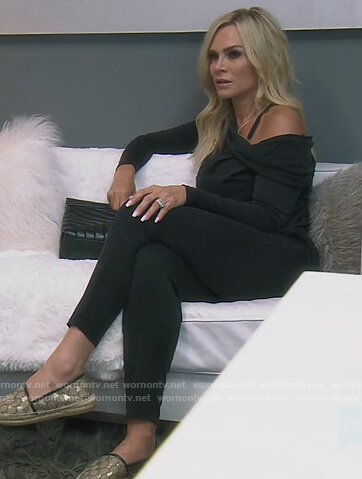 Emily's denim military jacket on The Real Housewives of Orange County
